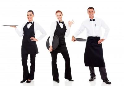 contratar grupo de camareros falsos