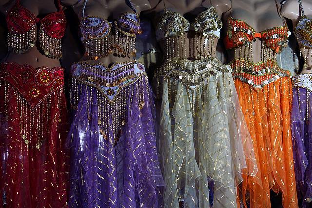 Vestimenta típica para la danza del vientre